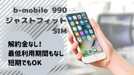 b-mobileは解約金なし!最低利用期間もなし・短期でもOK