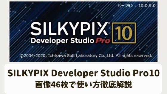 SILKYPIX Developer Studio Pro10の使い方!画像46枚で使い方徹底解説