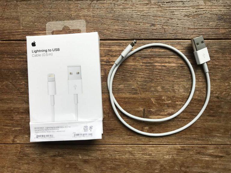 0.5mの短い純正iPhoneケーブルの口コミ!短いiPhone充電ケーブルが無駄に長くなくてストレスフリー♪